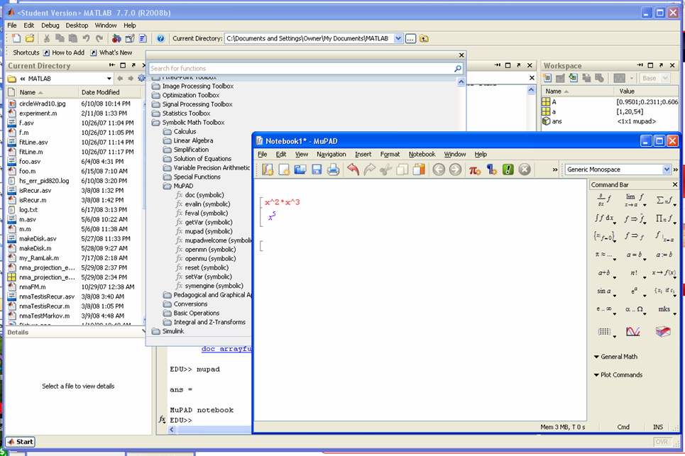 Math Forum Discussions Re Matlab 2008b Symbolic Toolbox Now